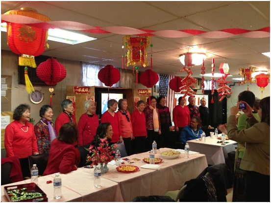 OAPIA celebrates the Lunar New Year with seniors from the Asian Senior Center in Chinatown.