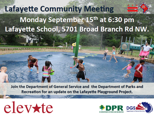 Lafayette Play DC Playground Community Meeting September 15, 2014 at 6:30 pm (Download an accessible version, below)