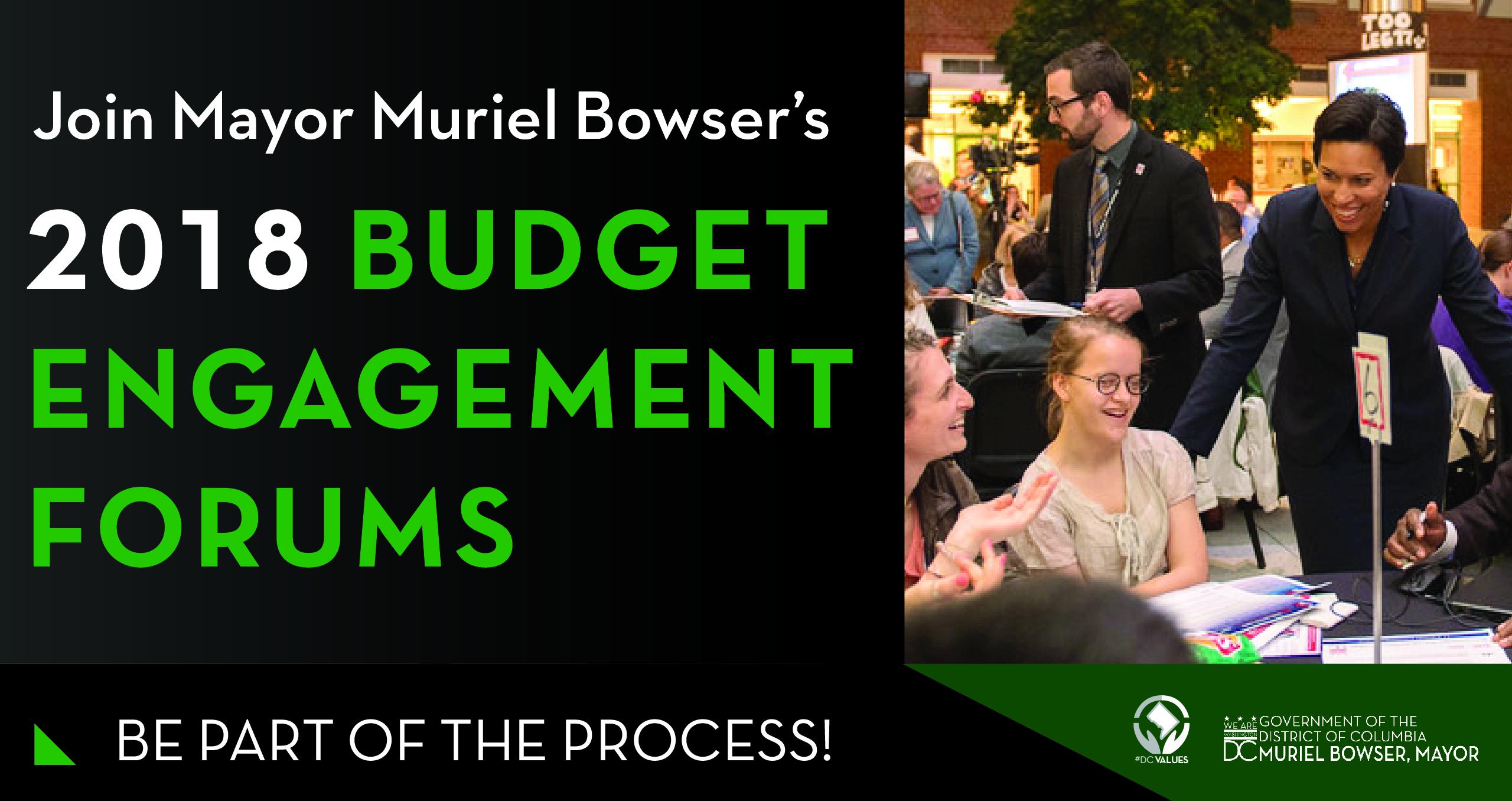 2018 Budget Engagement Forum