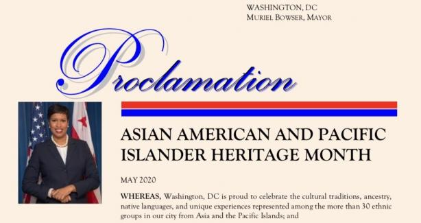 AAPI Heritage Month Proclamation Letter 2020