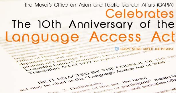 10th Anniversary of Language Access Act