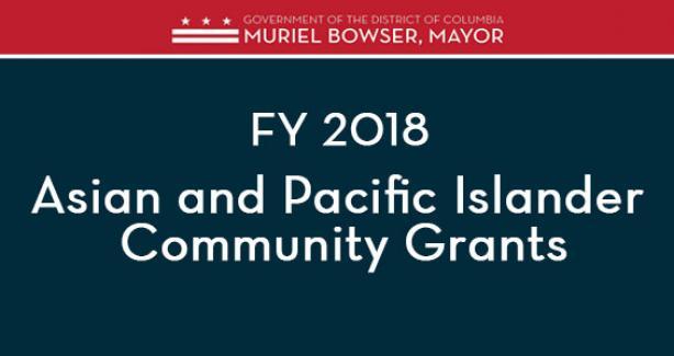 FY 2018 AAPI Community Grant