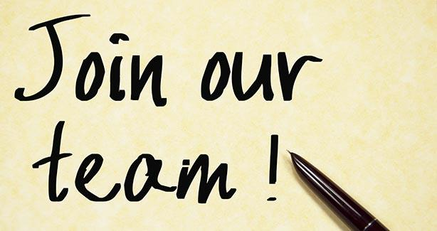 Pen and note reading Join Our Team!