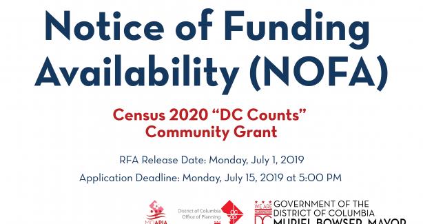 Census 2020 DC Counts Grant