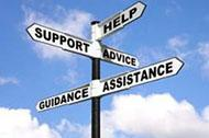 "assistance roadsign for ""I need help with..."""