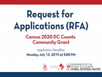 Census 2020 DC Counts Grant RFA Image